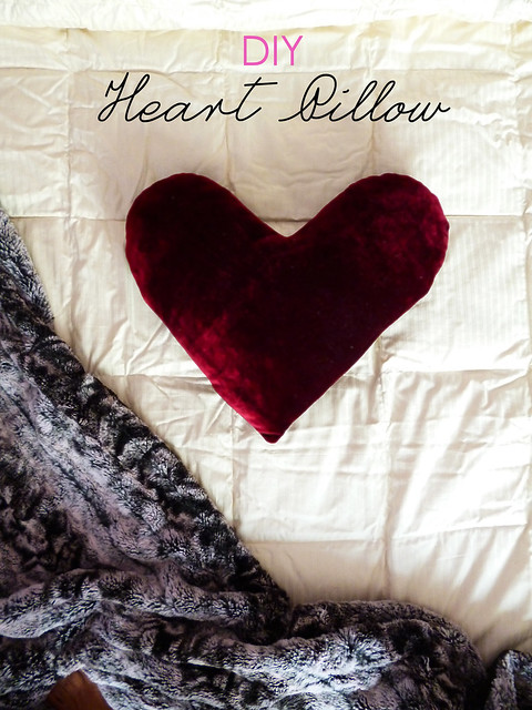 Raspberry Bloom: DIY Heart Pillow