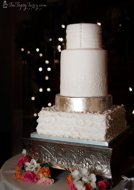 silver-leaf-fondant-wedding-cakes