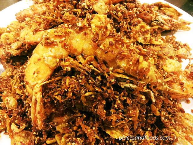 oversea restaurant cny menu deep fried prawns with cornflakes