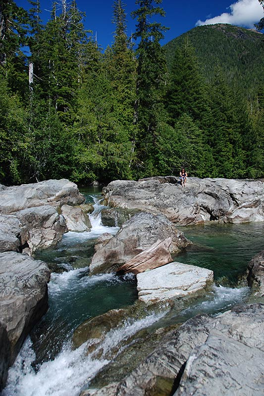 Kennedy River Waterfall, Pacific Rim Highway 4, Vancouver Island, British Columbia