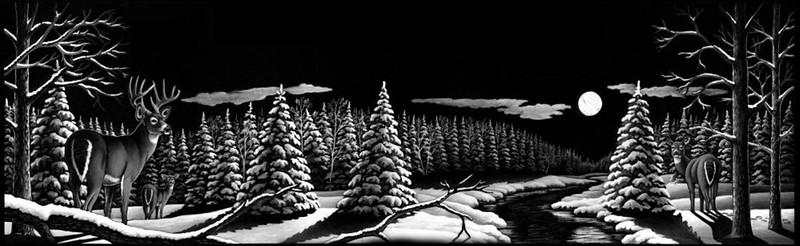 Deer Snow scene