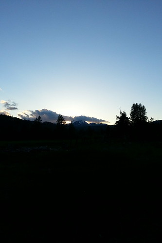 blue sunset mountain evening lassen warnervalley