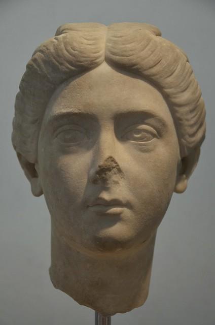 Bruttia Crispina, wife of Commodus, from Villa Adriana (Hadrian's Villa), c. 178 AD, Palazzo Massimo alle Terme, Rome