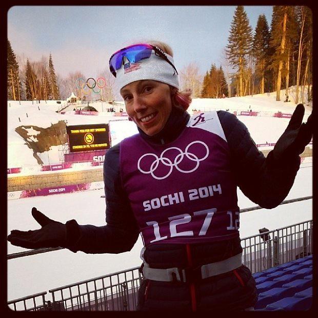 Kikkan Randall at Sochi Olympics