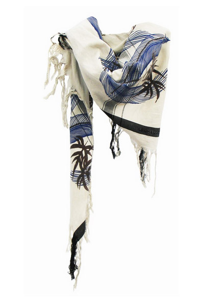 Wind Triangle Unfinished Tassel Scarf