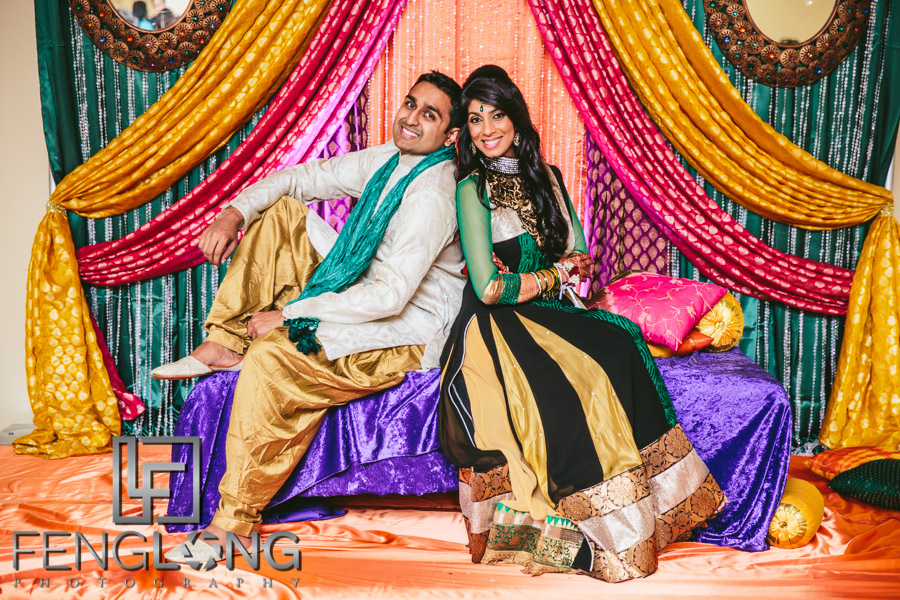 Shai & D's Garba & Pithi Night at Mughal's Banquet Hall | Atlanta Hindu Ismaili Fusion Wedding Photography