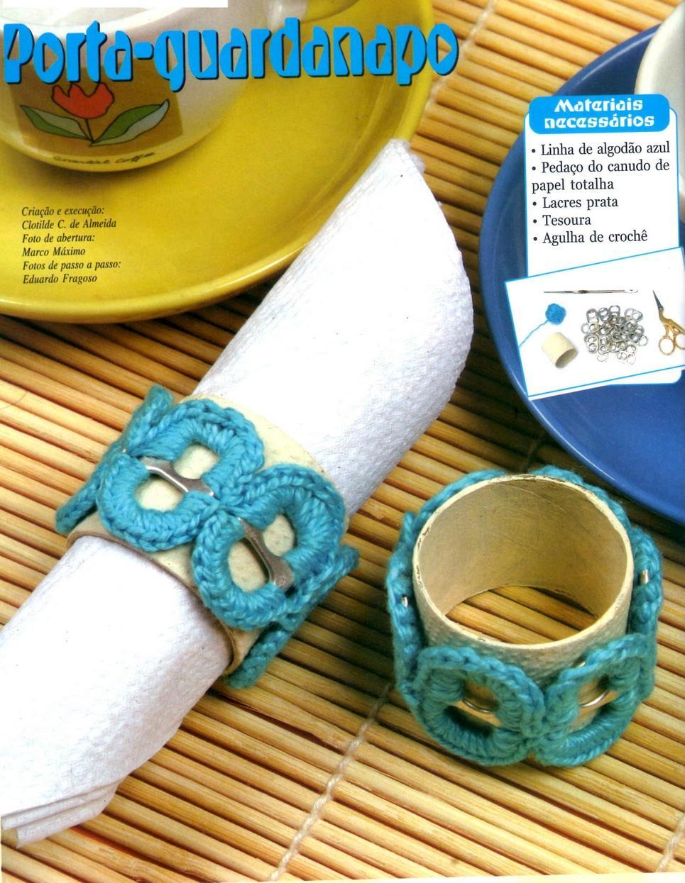 Diy Rond De Serviette diy : rond de serviette languettes au crochet - le monde-creatif