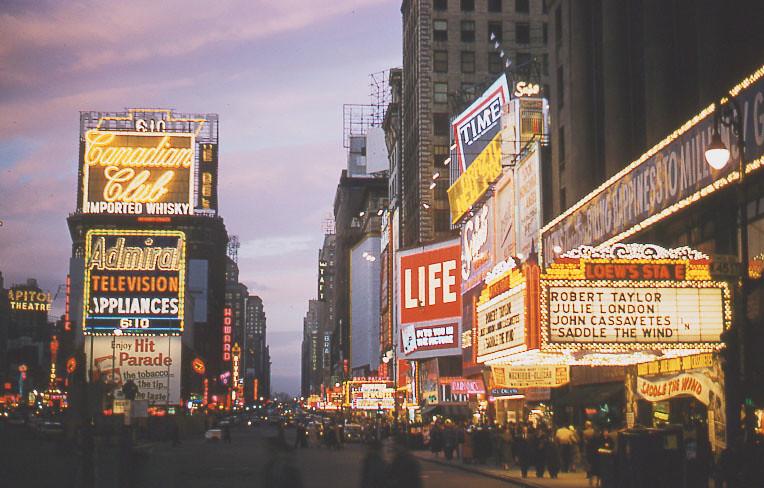 Manhattan, New York - Times Square 1950's