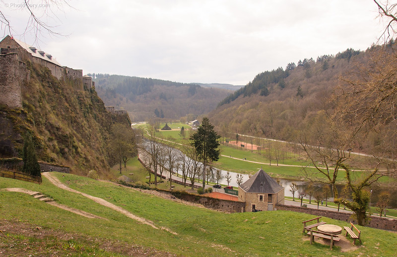 the hill and the castle on the left