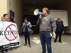 Ian, 18, in high school from Berkeley speaking #XLDissent #noKXL  #keystonexl