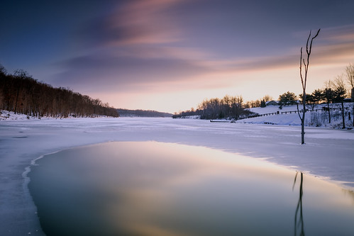 longexposure winter sunset snow ice germantown weather frozen day cole senecalake afterthesnow boyds blackhillregionalpark leebigstopper