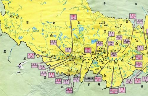 雅魯藏布江及支流水電開發計劃(引自《中國水力資源和水電圖集》 )