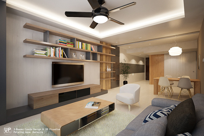 Residential_minimalist interior design idea_3 Rooms Condominium_Living Dining Room_Petaling jaya_Malaysia_01