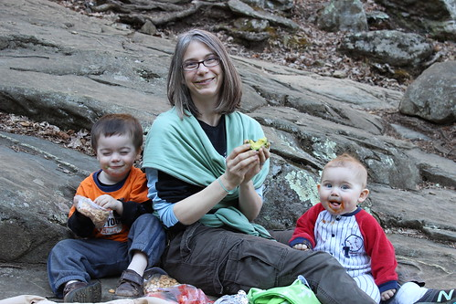Shenandoah National Park - Whiteoak Canyon Trail - Snack Break! Cashews, Red Peppers, Avocados, Pureed Carrots 3 (By Ryan Somma)
