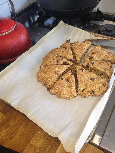 pb chocolate chip oatmeal scones