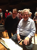 Itzhak Perlman and Jordan Smith after rehearsal with the Baltimore Symphony.