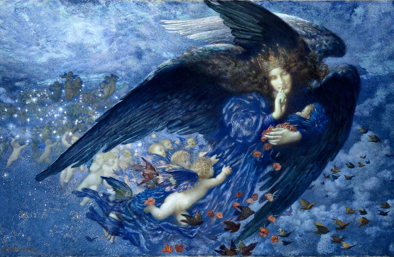 Edward Robert Hughes - Night with her Train of Stars (1912)
