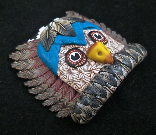 Owl Kachina Mask/Bracelet tile/Pendant