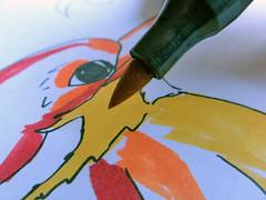 Brush-Marker-Zeichnung