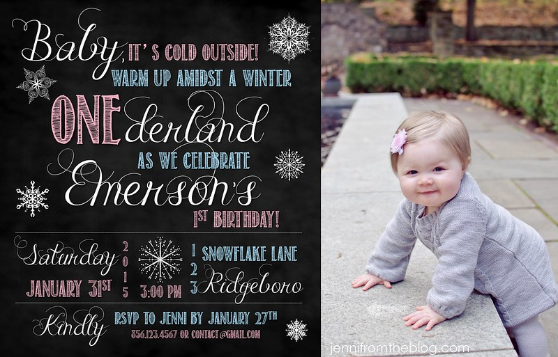 Emerson's 1st Birthday Blog