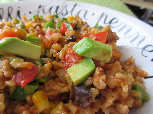 Cheesy Chicken Taco Rice