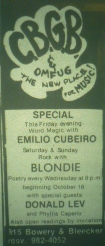 Oct. 1974 CBGB