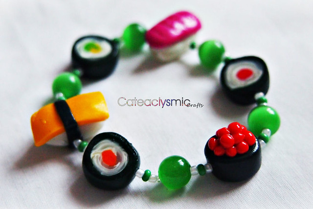 Kawaii Mini Sushi Bracelet