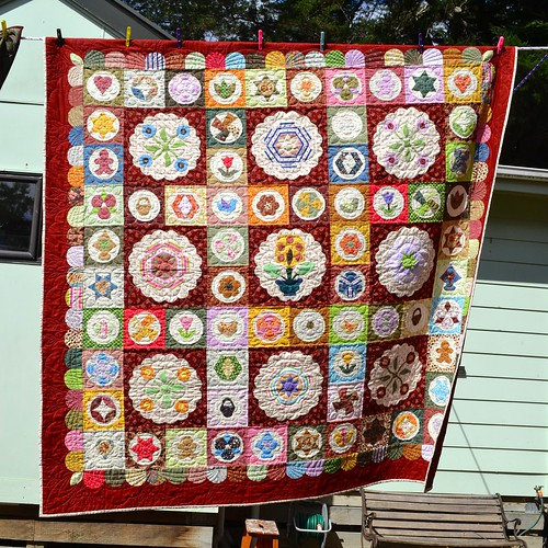 Antique Sampler Quilt - Judith Bell (Quilted by Sue Burnett)