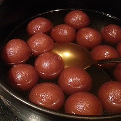 chocolate truffle(0.0), chocolate cake(0.0), chocolate balls(0.0), produce(0.0), chocolate(0.0), gulab jamun(1.0), food(1.0), dish(1.0), cuisine(1.0),