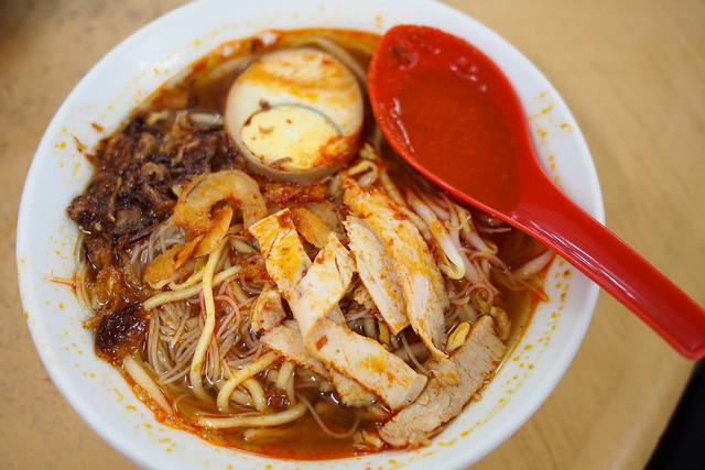 prawn noodles, Lebuh Presgrave, Georgetown, Penang, Malaysia
