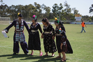 Iraqi cultural performers at the New and Emerging Communities Cup in Preston, Victoria