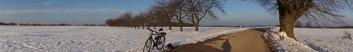 Panorama wih bicycle