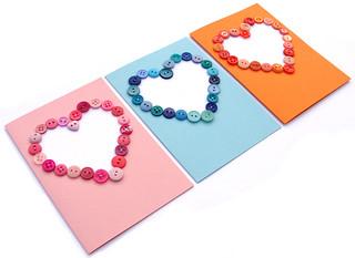Button Heart Cards (Knopenhartkaarten)