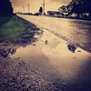 Puddle by the highway. #nashvilleil #washingtoncountyil #weather #storms #bytheroad #highways #puddle #inmyyard #soill #southernil