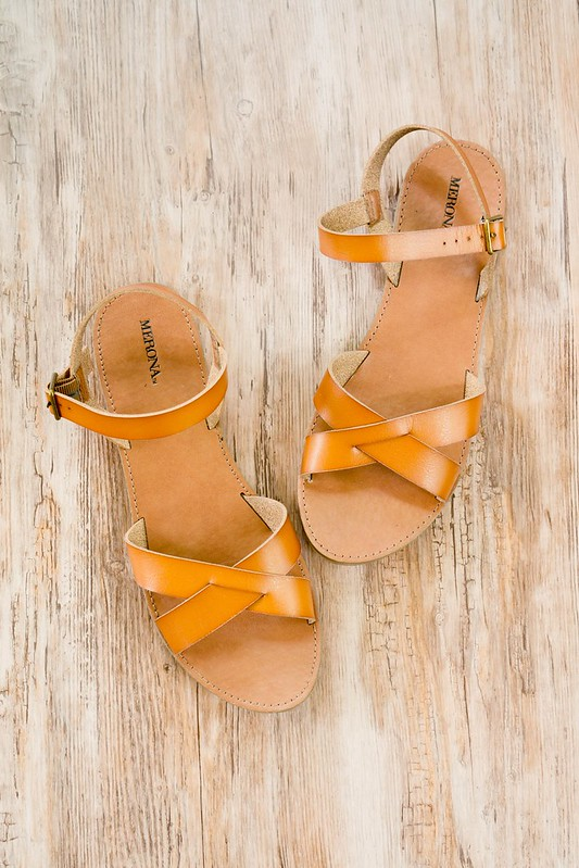 Target Merona tan sandals