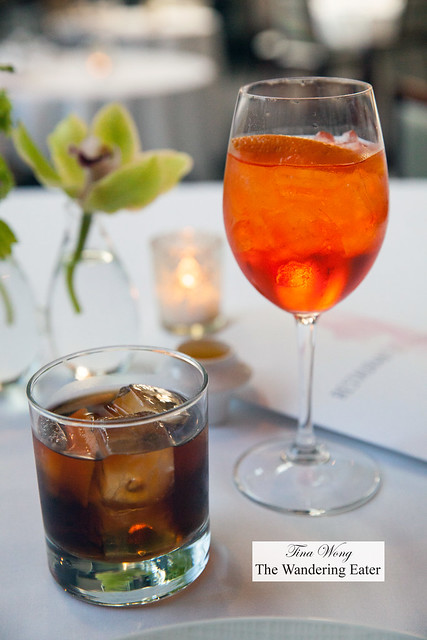 Our cocktails - Boulevardier and Aperol Spritz