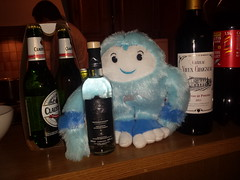 yeti getting tipsy with some fine tsipouro