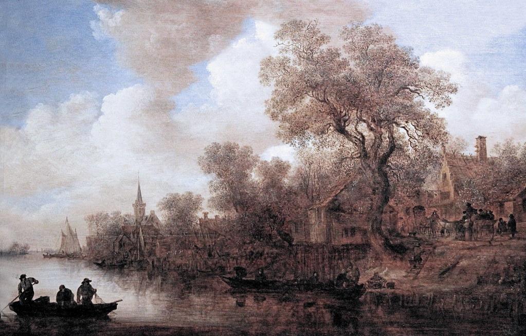 IMG_7109X Jan Van Goyen 1596-1656 Leyde  Paysage de Rivière  Landscape River. 1652  Cologne  Wallraf Richartz Museum