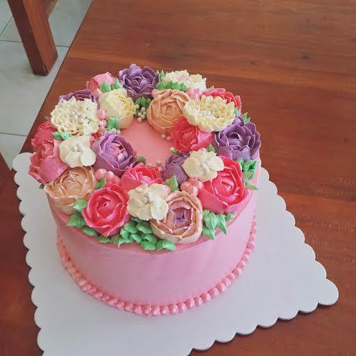 Floral Cake by Jen Macatangay of Sweet Treats by Jen