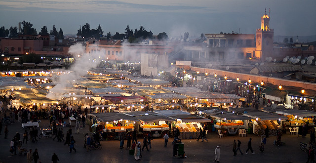 Dusk at Jemaa el Fna, Marrakesh