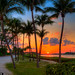 Sunset-at-Jupiter-Inlet-Park-by-Coconut-Tree by Captain Kimo