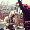#sheep can #abseil too - #glasgow #sky #scotland #scottish #sport #extreme #charity #fundraising