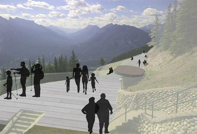Proposed Viewing Deck, Cliff House, Mt. Norquay
