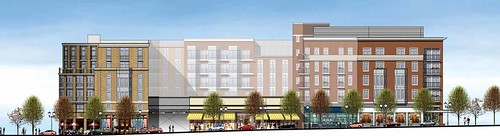 elevation of north parcel facing Wisconsin Avenue (courtesy of H&R Retail)