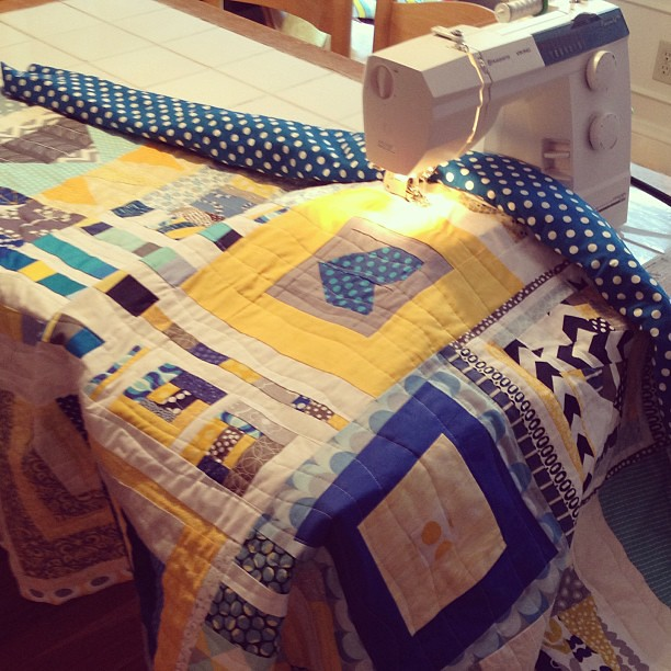 Quilting in progress! #quiltsforboston