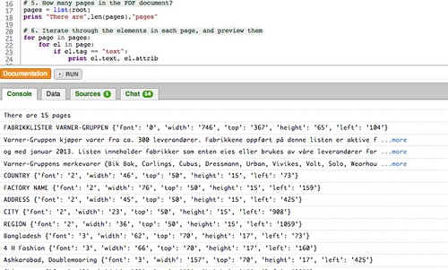 Previewing the XML element contents