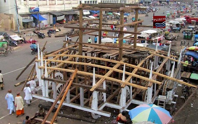 progressing of construction work of Chariots ( Ratha )