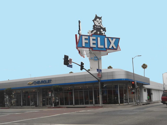 felix chevrolet erected this sign in 1957 3330 s figueroa st downtown los angeles ca. Black Bedroom Furniture Sets. Home Design Ideas