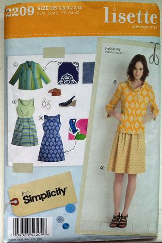 S2209 Lisette pattern envelope