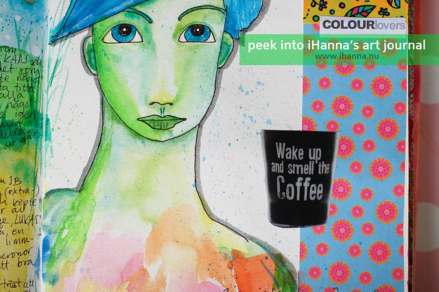 Art Journal Peek: Watercolor Girl